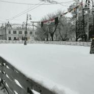 Каток на площади Маркина фотографии