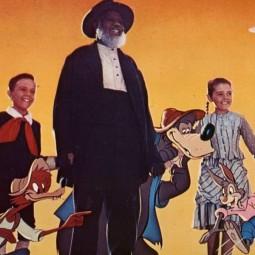 Показ фильма «Песня Юга» в Летнем кинотеатре на Рождественской