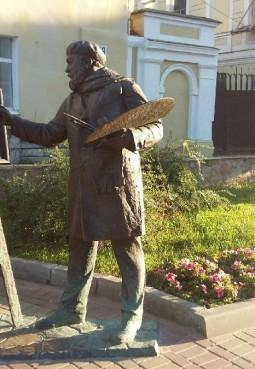 Памятник художнику на Рождественской улице