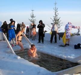 Крещенские купания в Нижнем Новгороде 2017