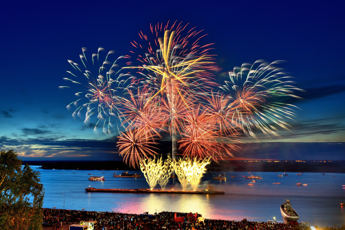Фестиваль фейерверков вНижнем Новгороде летом 2021 г.
