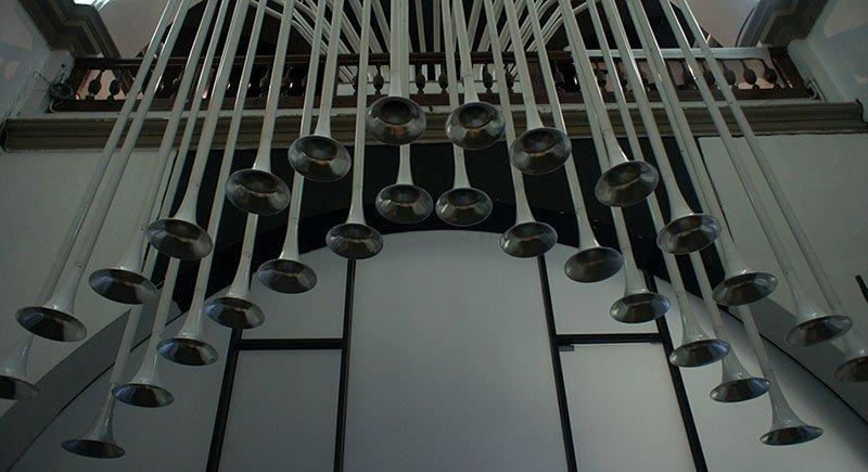 Трубы органа Тани Кандиани в нижегородском Арсенале